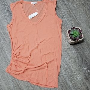James Perse Ruched Tank Sz 1